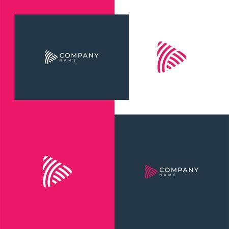 Inspirational abstract audio logo design concept