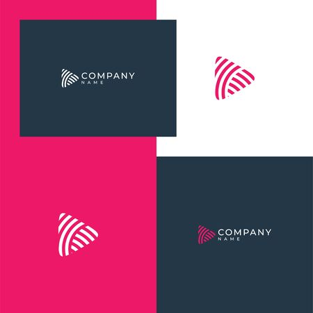 Inspirational abstract audio logo design concept