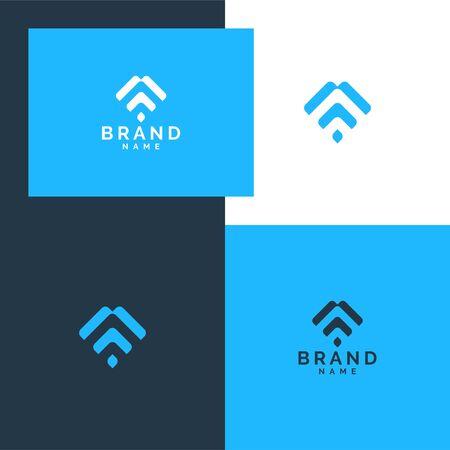 Inspirational abstraclt logo design concept Stock Vector - 143398270