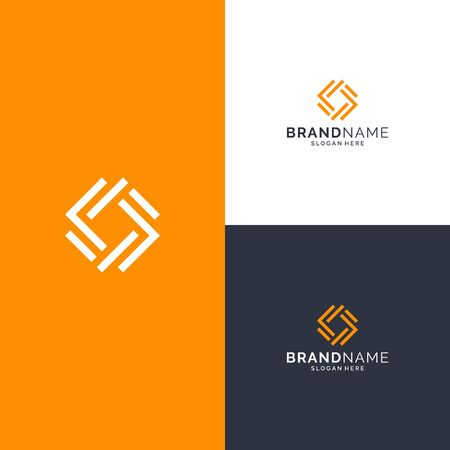 Inspirational abstract logo design concept Illustration