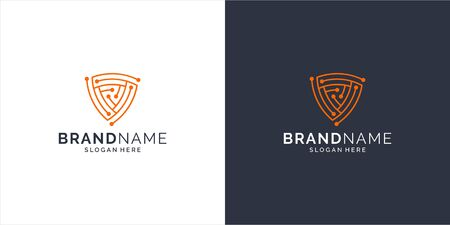 Inspirational tech logo design concept that suit to be placed everywhere