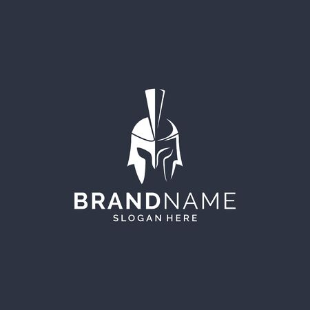 Inspirational spartan logo design