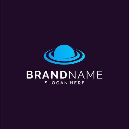 Inspirational space logo design Stock Vector - 143398443