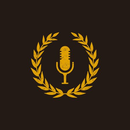 Inspirational podcast logo design that suit to be placed everywhere  イラスト・ベクター素材