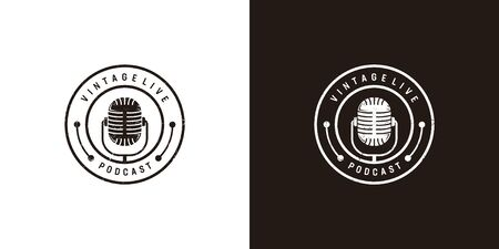 Inspirational podcast logo design that suit to be placed everywhere Illustration