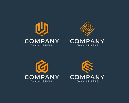 Inspirational modern logo that contain 9 modern design concept