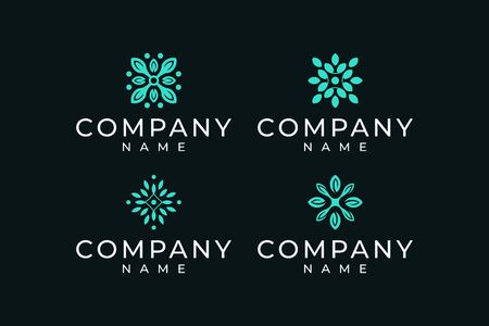 Inspirational leaf logo design bundle that suit to be placed everywhere Illustration