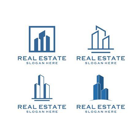 inspirational real estate building design bundle that contain 4 Vecteurs