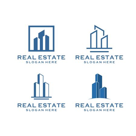 inspirational real estate building design bundle that contain 4 Illustration