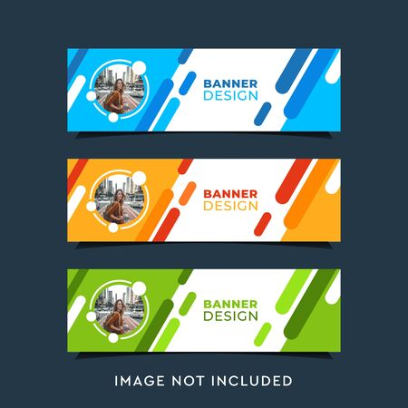 Inspirational banner design bundle contain 3 design
