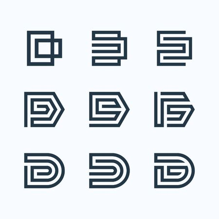 Inspirational design bundle that make shape of letter D