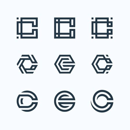 Inspirational design bundle that make shape of letter C