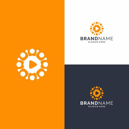 Logo design that bring voice and virus concept