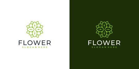 Feminine flower logo design that suit to be placed everywhere Illustration