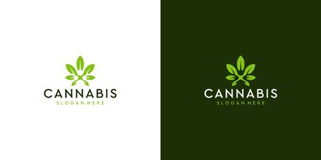 Cannabis logo design that suit to be placed everywhere