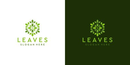 Feminine leaf logo design that suit to be placed everywhere