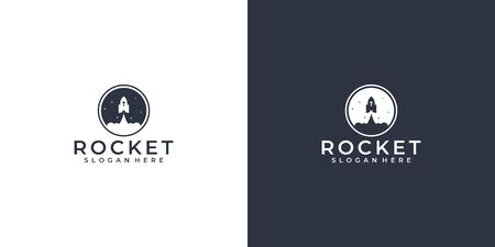 Rocket logo design that suit to be placed everywhere