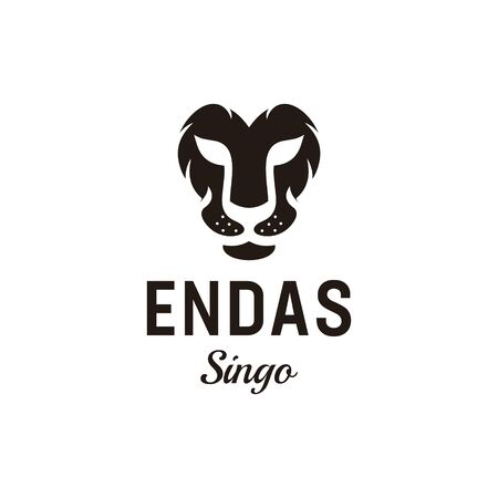 Logo design that make shape of lion head