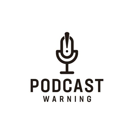 Logo design that make podcast shape Illustration