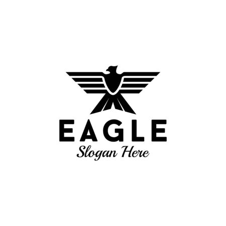 Eagle logo design that suit to be placed everywhere Illustration