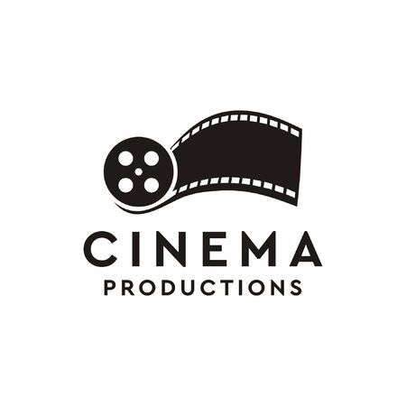 Logo design that make shape off cinema film that suit to be placed everywhere