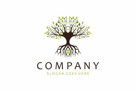 Tree logo design that can be placed everywhere Vettoriali