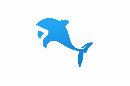 Modern inspirational whale logo design that suit to be placed everywhere