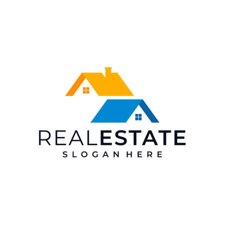 Corporate real estate business illustration vector graphics logo design. Good for branding, building, house and business card also suit to be placed everywhere
