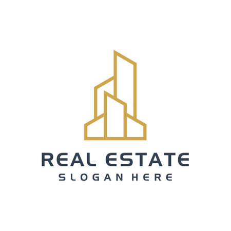 Real estate building illustration vector graphic logo design. Good for branding, business, personal use, corporate, also suit to be placed everywhere Ilustração