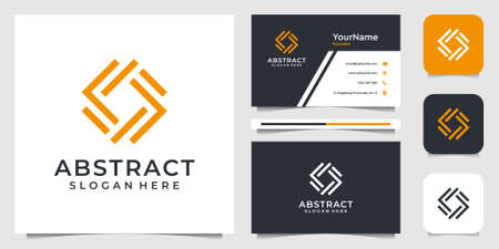 Abstract logo design in line art syle. Suit fo business, advertising, brand, icon, vector, illustration, and business card