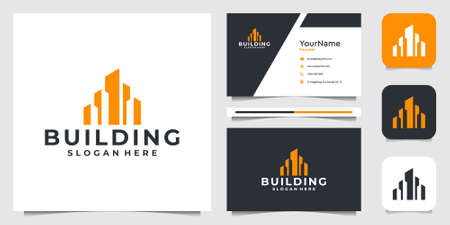Building logo illustration vector graphic. Good for construction, shape, layout, business, advertising, real estate, and business card