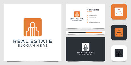 Real estate illustration vector graphic design in modern style. Good for construction, building, project, architecture, business, icon, advertising, and business card