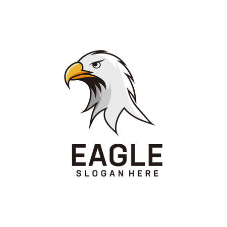 Eagle logo design mascot inspiration. Good for icon, brand, identity, animal, and business company Logo