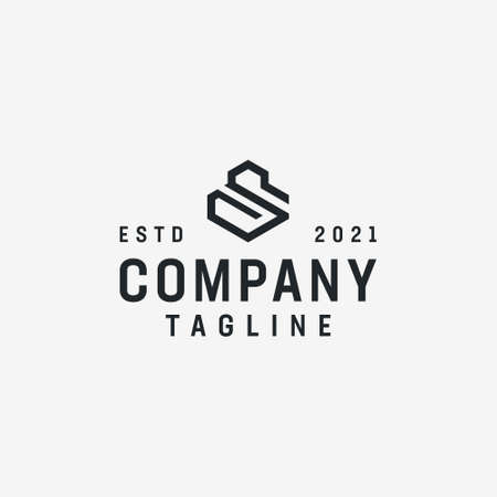 Corporate geometric element s logo. Logo can be used for icon, brand, identity, symbol, emblem, company, letter, creative, and initial