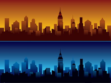 Skyline of modern city. Stock Photo - 1106593