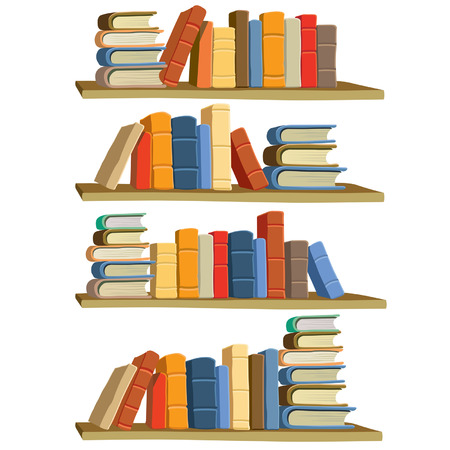 Collection of colorful books, vector
