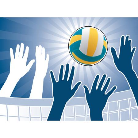 Vector illustratie voor volleybal competitie Vector Illustratie