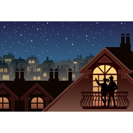 Due persone sono guardando cielo e le stelle