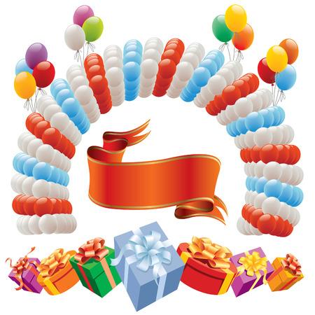 Decoración para cumpleaños y partido - elementos de diseño