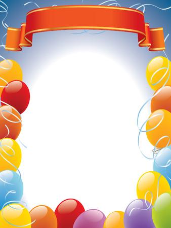 Decoración listo para pósters y tarjetas de fotogramas de globos