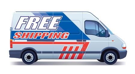 Białe pojazdu użytkowego - dostawy van - bezpłatnej dostawy