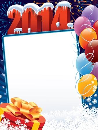 Nieuwjaar decoratie klaar voor uw bericht Stock Illustratie