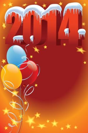Nieuwjaar decoratie klaar voor posters en kaarten
