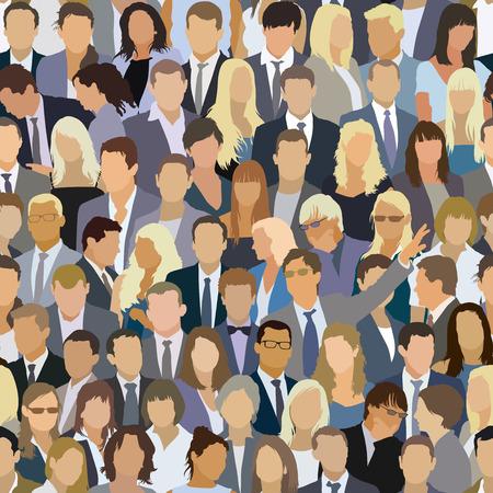 군중 패턴, 공연을 보는 사람들의 큰 그룹입니다.