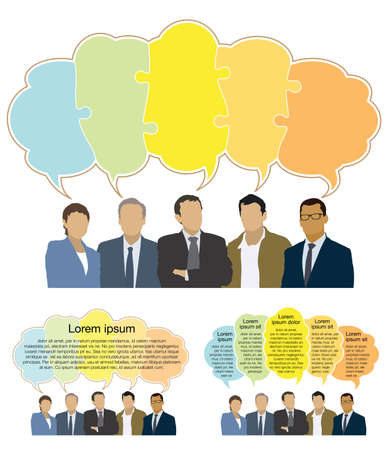 Good business team. The members of the team think differently, but they answer the same.