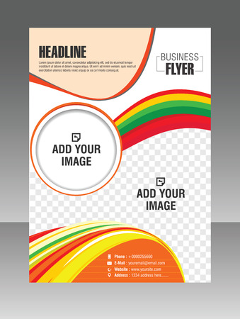 abstact: Modern vector colorful Flyer template Brochure design Illustration