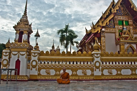 Monastery, Asia, Asia, worship, Buddhism, Buddhist, clouds, culture Editorial