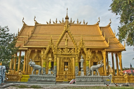 asia, buddhism, Buddhist, clouds, culture, decoration, Gold, king, location, monastery Stock Photo