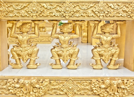 Resumen tailand�s, patr�n, Buda, perspectiva de color, oro, iluminaci�n, monjes, predicar, sacerdotes, religioso, techo