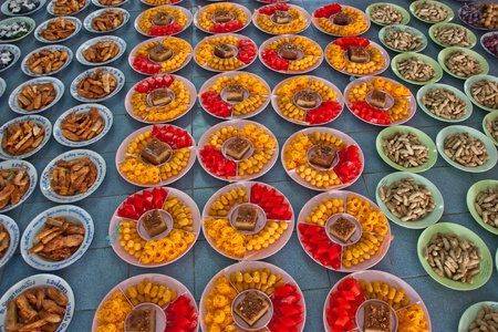 diversity of the region: A variety of Thai food. The foreign favorite. Because it is unique. It is one of the world Stock Photo